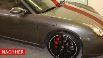 Lackreparatur Porsche nachher