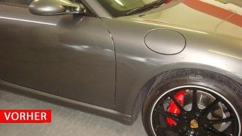 Lackreparatur Porsche vorher
