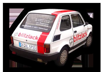 gb Blitzlack Firmenwagen