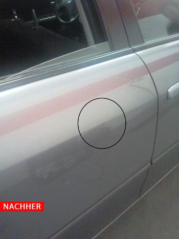 Dellenreparatur Mazda nachher